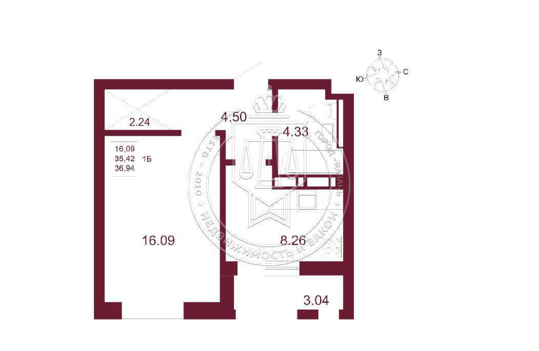 Продажа 1-к квартиры Баки Урманче ул, строительный 2