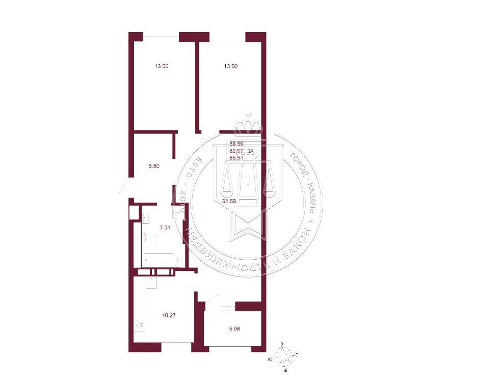 Продажа 3-к квартиры Баки Урманче ул, строительный 2